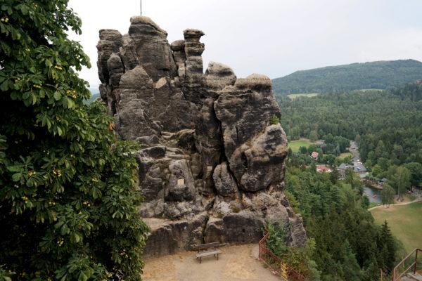 Auf dem Nonnenfelsen im Zittauer Gebirge