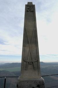 Obelisk für August den Starken und dessen Besteigung