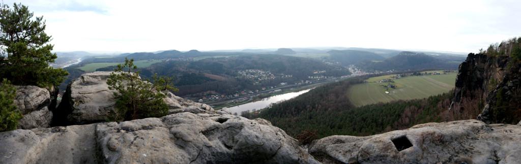 Panorama vom Lilienstein gen Süden