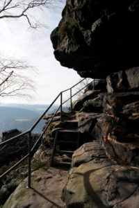 Stufen auf der Westseite des Lilienstein