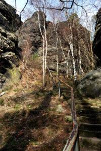 Südaufstieg am Lilienstein