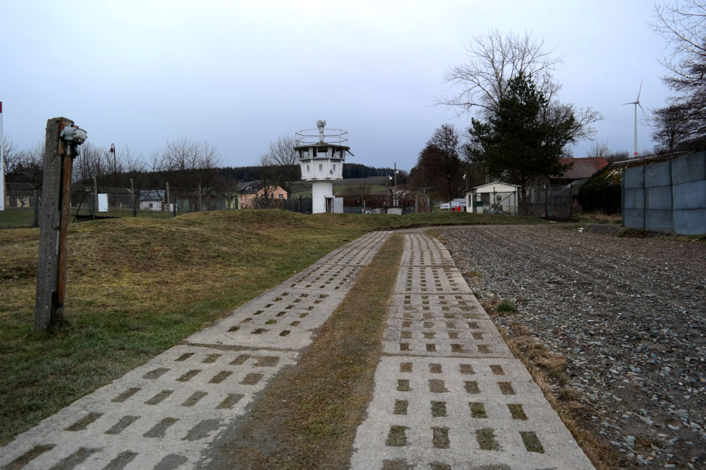 Todesstreifen an der Mauer in Mödlareuth