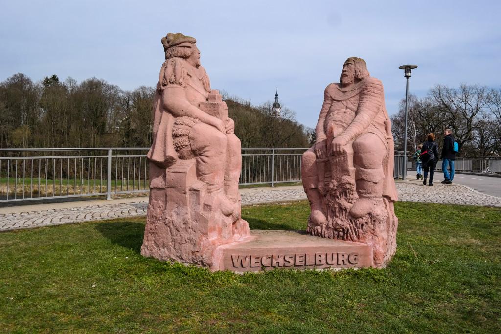 Denkmal an der Porphyrbrücke bei Wechselburg