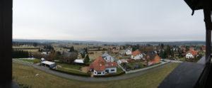 Blick vom Aussichtsturm Remtengrün nach Nordosten