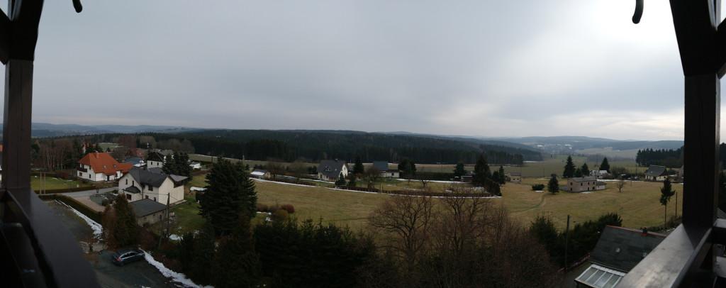 Blick vom Aussichtsturm Remtengrün nach Südosten