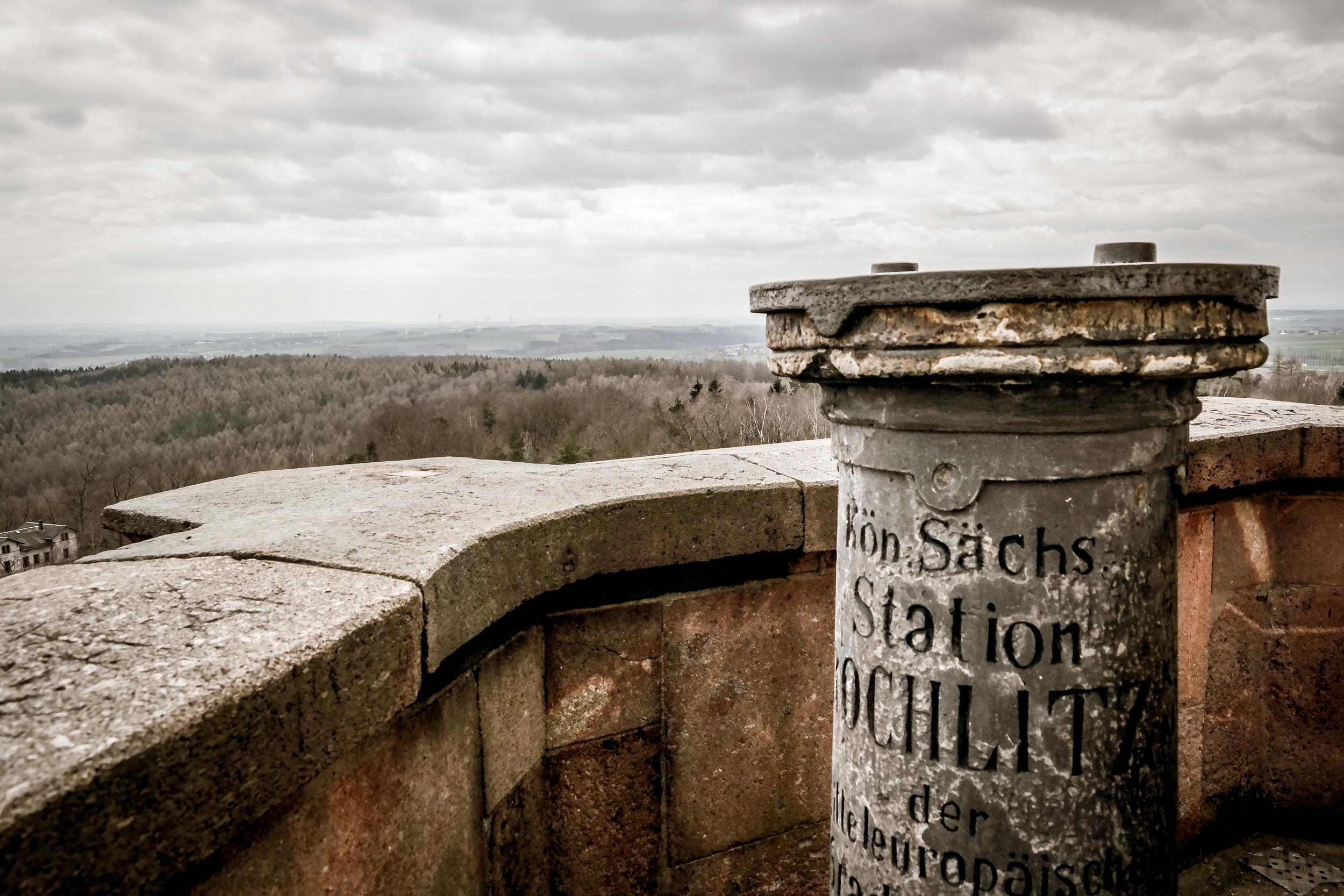 Königlich Sächsische Triangulationssäule auf dem Rochlitzer Berg