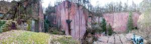 Porphyr-Steinbruch auf dem Rochlitzer Berg