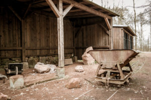Bergbau-Relikte auf dem Rochlitzer Berg