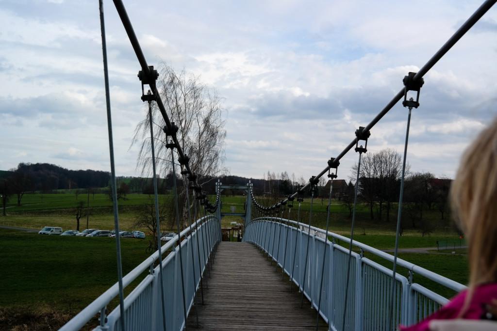Hängebrück zwischen Sörnzig und Fischheim