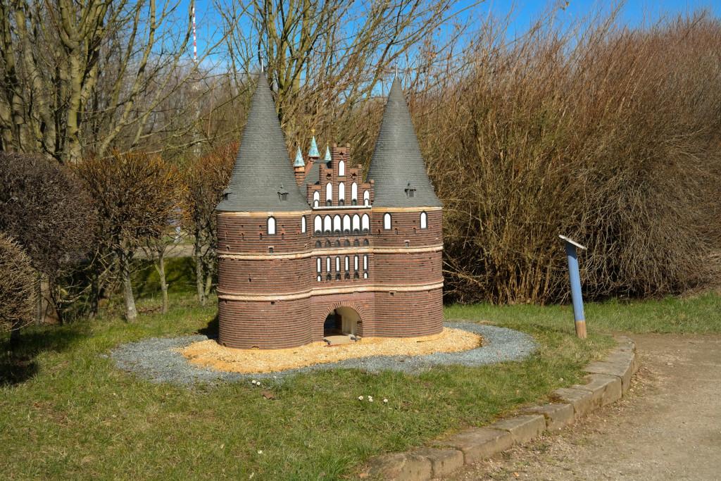 Holstentor in Lübeck in der Miniwelt Lichtenstein