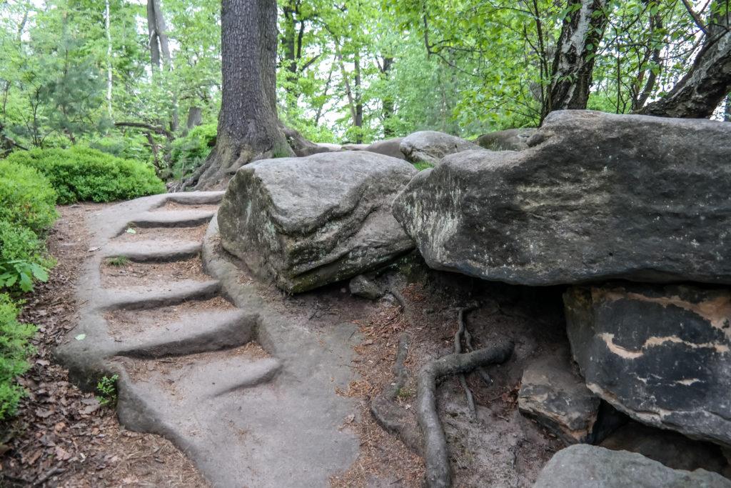 Alte Stufen auf dem Pfaffenstein