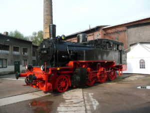 Lok 91 896 im Sächsischen Eisenbahnmuseum Chemnitz