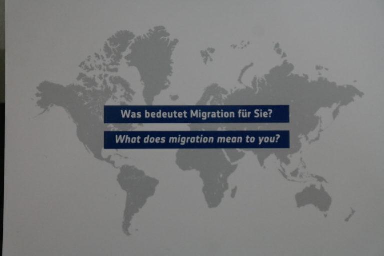 Austellung #MigrationDD im Dresdner Verkehrsmuseum