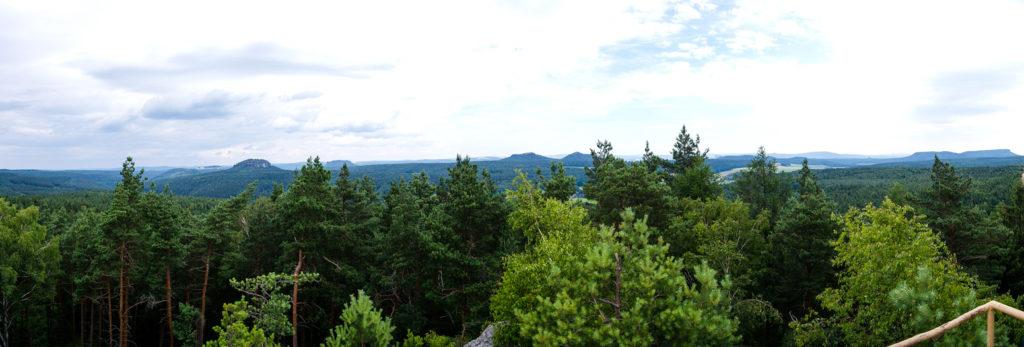 Blick vom Spitzstein auf die Sächsische Schweiz