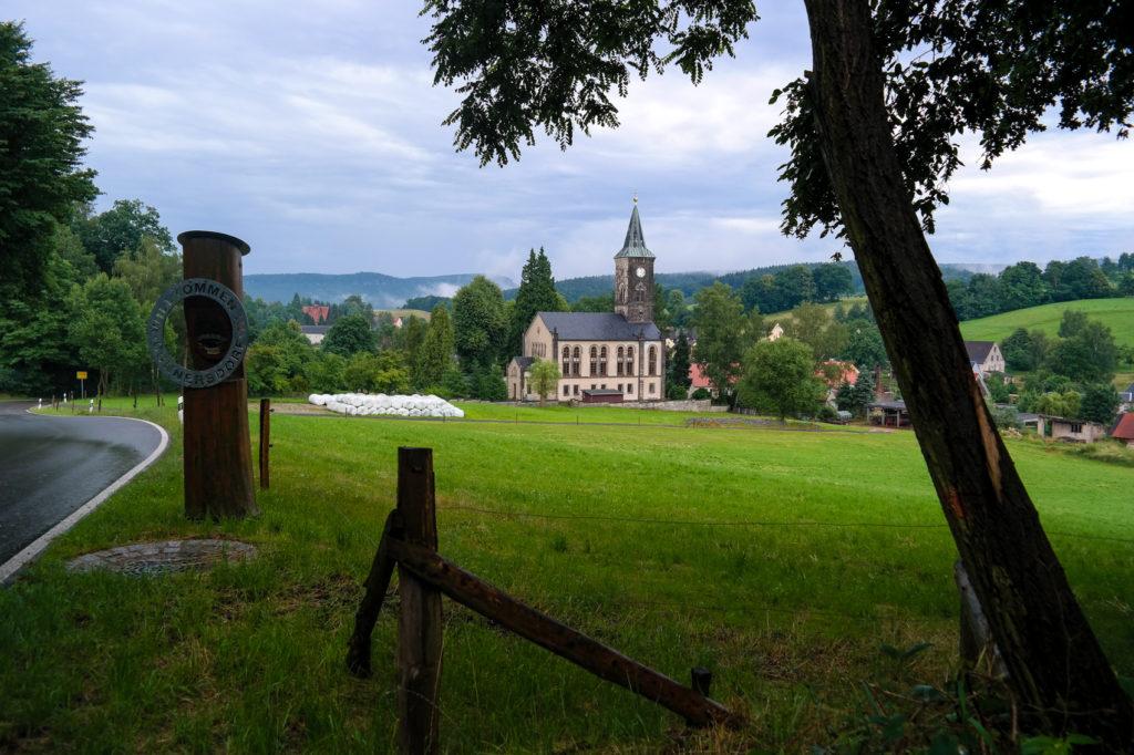 Blick auf Cunnersdorf nahe Königstein