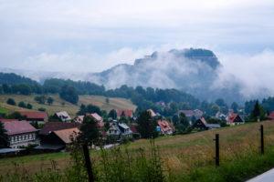 Die Festung Königstein nach dem Regen