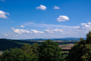 Blick vom Belvedere auf die Sächsische Schweiz