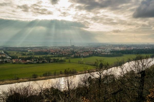 Blick von der Agneshöhe auf Dresden