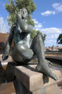 Brunnen im neobarocken Garten