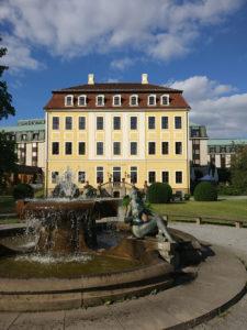 Das historische Gebäude des Westin Bellevue