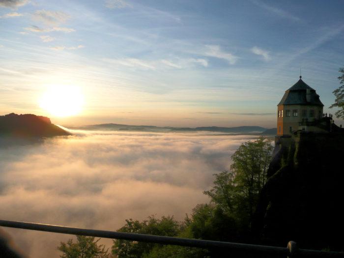 Morgenstimmung auf der Festung Königstein © Festung Königstein gGmbH