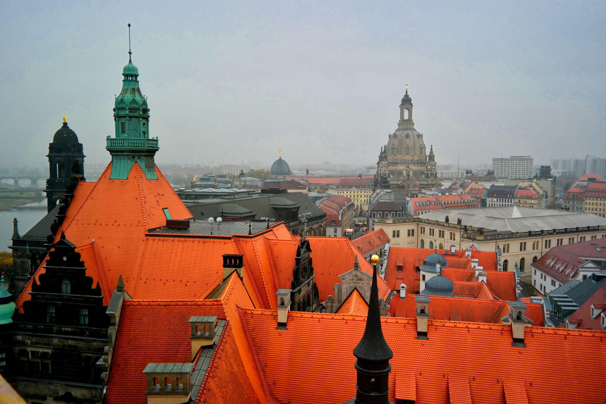 Blick vom Hausmannturm auf die Frauenkirche