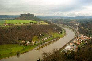 Blick auf die Elbe und den Lilienstein