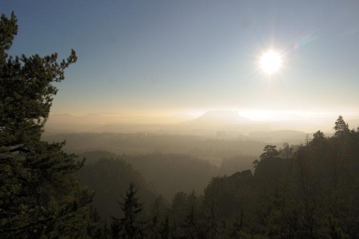 Ausblick in die Sächsische Schweiz