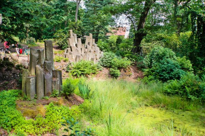 Basaltsäulen im Kromlauer Park