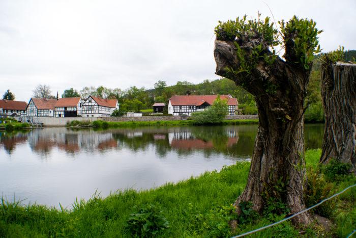 Unterwegs im Dorf Cronschwitz