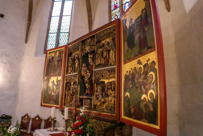 Alttar in der Kirche St. Marien, Gera