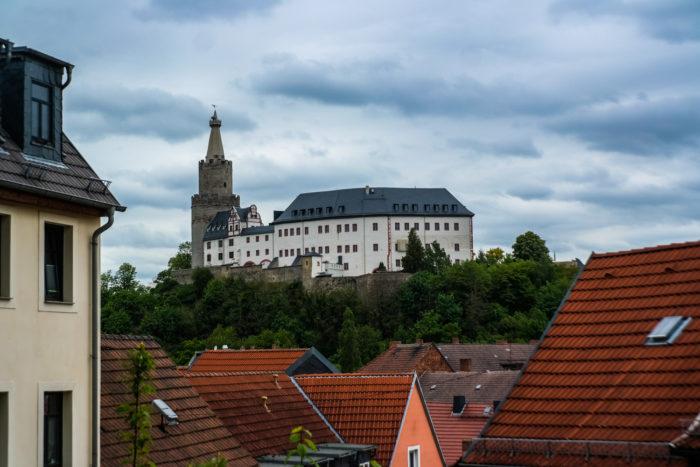 Weida Osterburg vom Selfiepoint aus gesehen