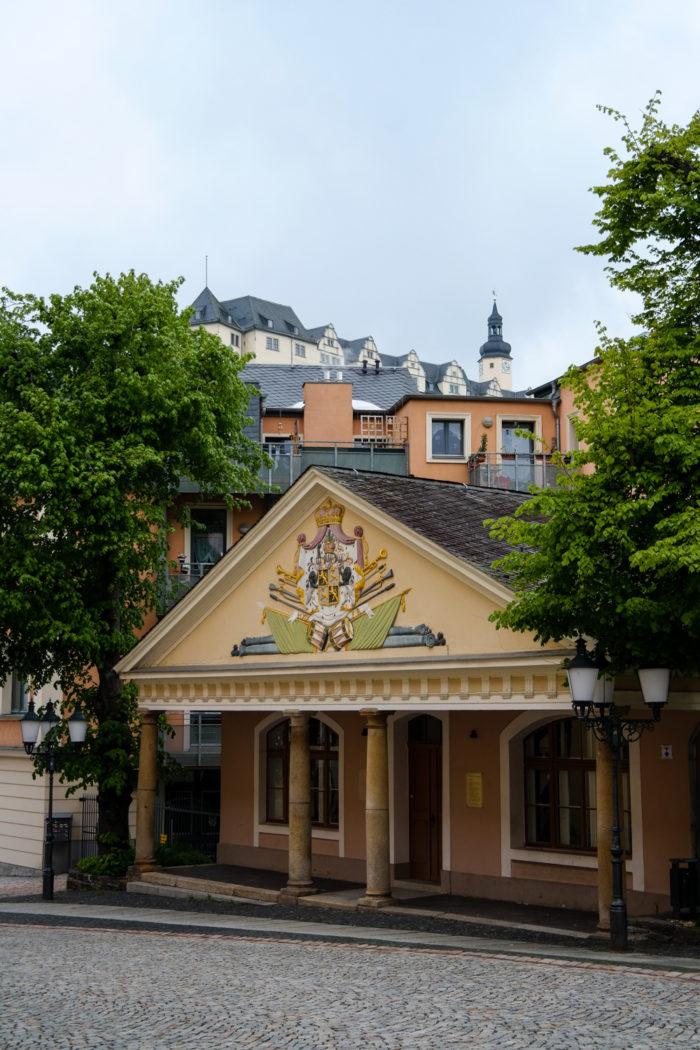 Greiz - Blick auf das Obere Schloss