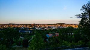 Sonnenuntergang über Gera, Blick von Schloss Osterstein