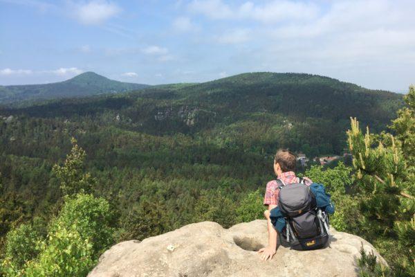 Fernblick ins Zittauer Gebirge