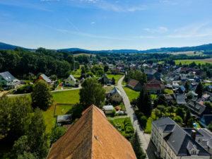 Blick vom Kirchturm auf Cunewalde