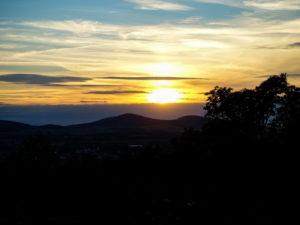Sonnenuntergang auf dem Löbauer Berg
