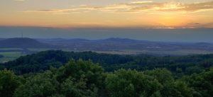 Sonnenuntergang auf dem Rotstein