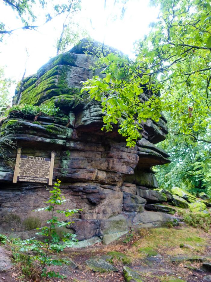 Totenstein in den Königshainer Bergen